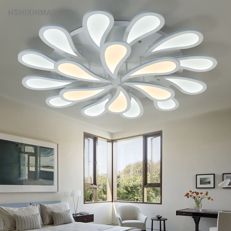 Led Circular Acrylic Dimming Ceiling Lamp Flower Shaped Living Room Dining  Room Bedroom Ceiling Lights AC90 260V