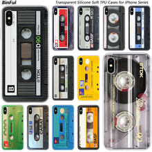 Hot Classical Old Cassette tape Silicone Fashion Case for Apple iPhone 11 Pro XS MAX XR X 7 8 Plus 6 6s Plus 5 5C 5S SE Cover(China)