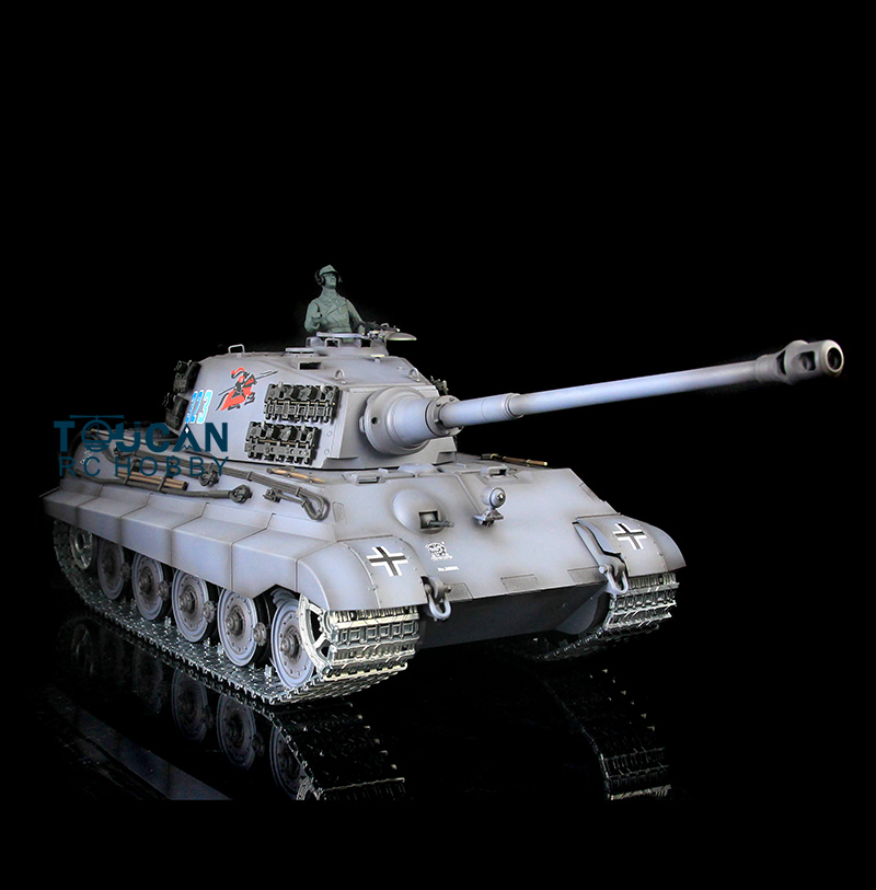 2.4Ghz HengLong 1/16 Scale Gray German King Tiger II Upgraded Metal Version RTR RC Tank 3888A все цены