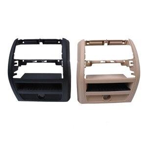 Image 5 - LHD RHD الخلفي التيار المتناوب مكيف الهواء تنفيس مصبغة الإطار الخارجي لوحة الداخلية ABS لوحة لسيارات BMW 5 سلسلة F10 F18 520 525 الأسود الراقية