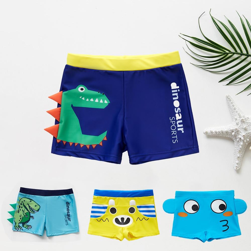 2019 Boys Swim Trunks 3-10 Years Children's Swimwear Kids Swimsuit Dinasour Boys Swimwear Trunks CZ983