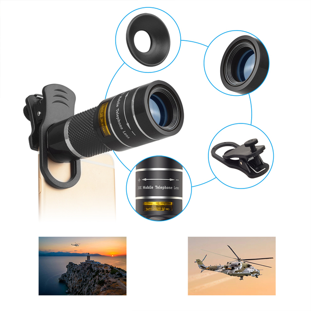 APEXEL Optic Phone camera lens 20X Telescope Telephoto monocular lens  for iPhone X 7 8 plus Xiaomi HTC other smartphone T20X 4