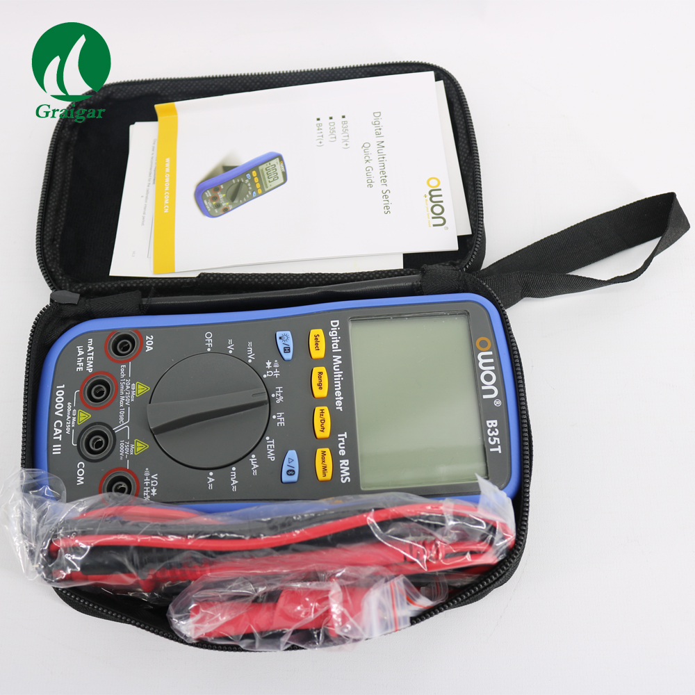 OWON B35T Multimeter Function as 3 in 1 : Datalogger \ Multimeter\Temperature Meter owon b35t 3 in 1 datalogger true rms multimeter temperature tester recording bluetooth 4 0 android
