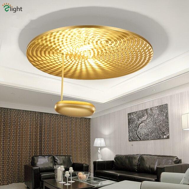 358 08 Post Moderne Or Chrome En Aluminium Led Plafond Lumieres Salle A Manger Led Plafond Lampe Chambre Led Luminaires De Plafond Dans Plafonniers