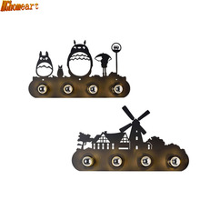 Industrial Wind Horses Double Horseshoe Wall Forest Deer Windmill Restaurant Bar Cartoon Wall Lights