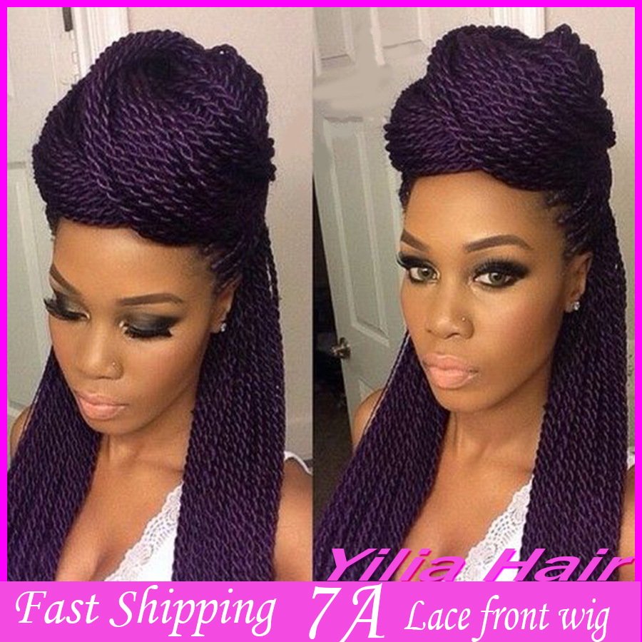 African American Purple Color Hair Kanekalon Braiding