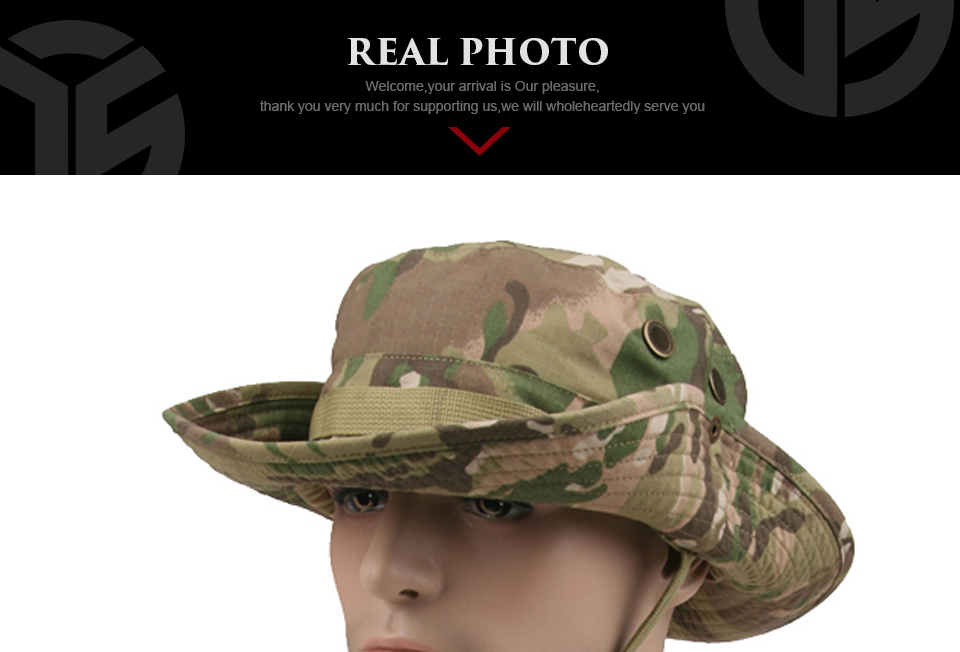 HTB1xLctXZjI8KJjSsppq6xbyVXaS - Multicam Tactical Airsoft Sniper Camouflage Bucket Boonie Hats Nepalese Cap SWAT Army Panama Military Accessories Summer Men