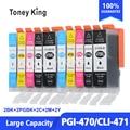 Toney King 2 набора для Canon MG6840 MG5740 TS5040 TS6040 TS 5040 TS 6040 принтер 5 цветов чернильный картридж PGI470 CLI471 PGI 470 471