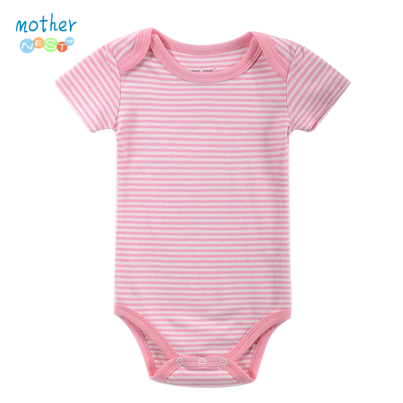 Baby Clothing! 2016 Summer Sleepwear Baby Girl Newborn Clothes Romper Short Sleeve Infant product , Baby Rompers Striped Girl