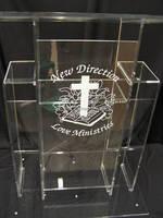 Frete Grátis Preço Razoável de Alta Qualidade Barato Púlpito de Acrílico Transparente