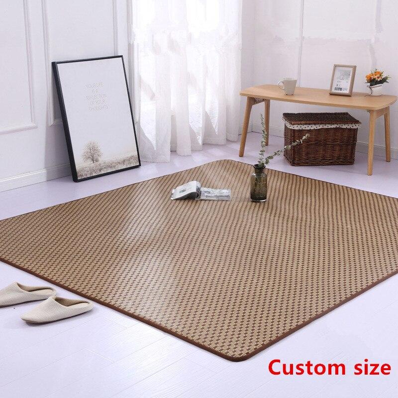 tapis japonais d ete epaissir tatami rotin sieges tapis pliable salon chambre tapis de sol tapis dortoir etudiant lit tapis