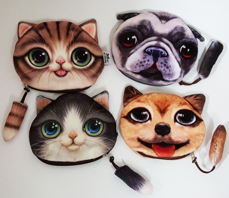 a54f4160a96d8 Buy Best New Cute Cat Coin purse kids wallet kawaii bag change coin pouch  children s purse women key holder coin wallet fabric velour for Sale