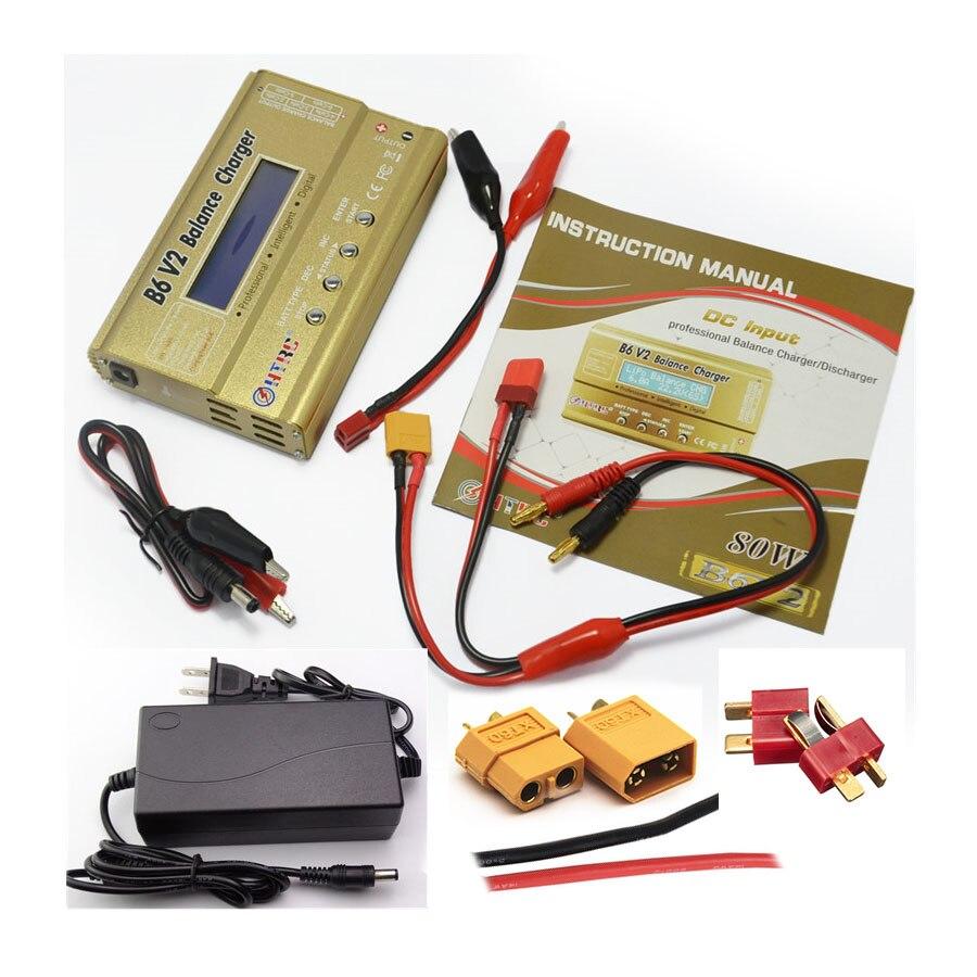 HTRC Imax B6 V2 80 W 6A RC Balance Ladegerät Für LiIon/LiFe/NiCd/NiMH/Hohe power Batterie LiHV + 15 V 6A AC Adapter