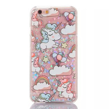 3D Cute Unicorn Dynamic Liquid Case Glitter Stars Sand Quicksand Cartoon Hard Back Cover For Apple iPhone 5 5s 6 6s 7 8 Plus X @
