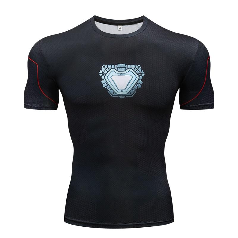Avengers 3 Raglan Sleeve Compression   Shirts   Iron Man 3D Printed   T     shirts   Men 2018 Summer NEW Comics Top For Male Black Friday