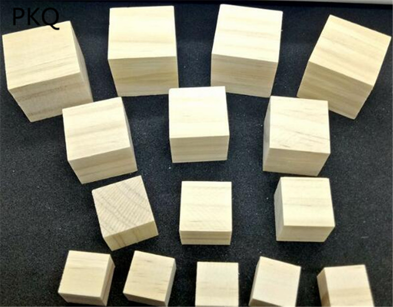 5 x Natural Wooden Cube Beads 20mm Raw Plain Unfinished Square DIY Craft Blocks