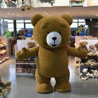 Надувные плюшевый медведь талисмана взрослых Размеры