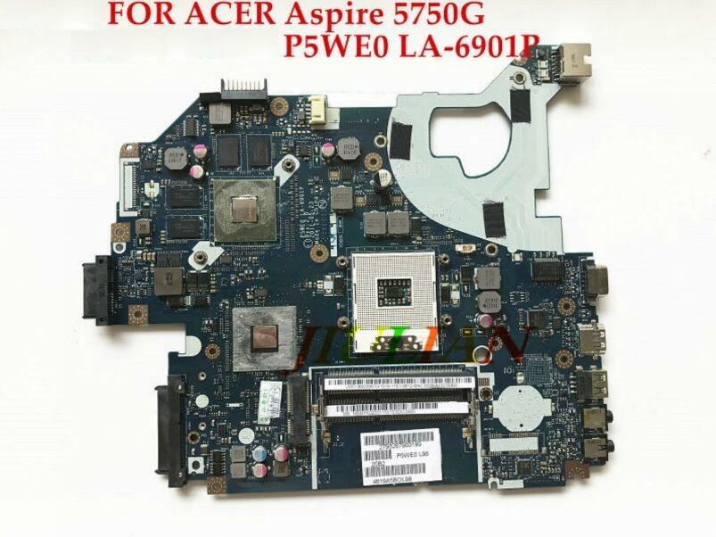 Clever Mbrcg02006 P5we0 La-6901p Laptop Motherboard Für Acer Aspire 5750 5750g Mb. Rcg02.006 Mit Gt540m 100% Getestet Arbeits