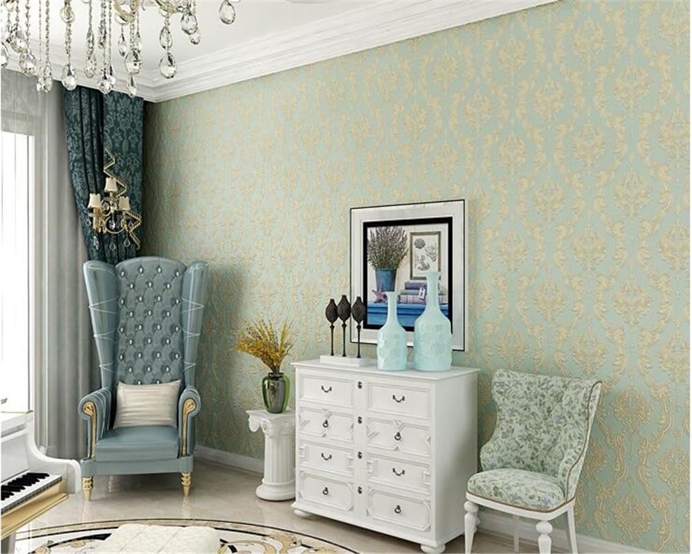beibehang European style fine pressure nonwoven fabric papel de parede 3d wallpaper living room bedroom wallpaper TV background beibehang papel de parede wallpaper fine