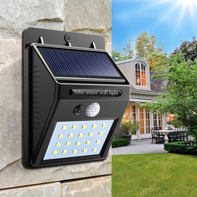 4W 20 Chips Solar lamp wall IP65 Led Light Sensor automatically Camp Night Garden road light waterproof outdoor Bulb Motion Lamp
