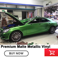 High quality vinyl wrap German imported glue matte Metallic Vinyl Wrap Film with Bubble Free 1.52*20m Apple light green
