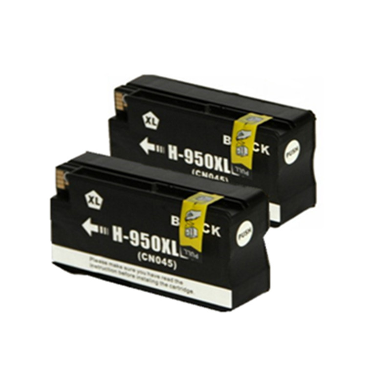 2XBlack Ink compatible cartridge for hp950 for hp Pro8100 pro8600 8620 8680 8615 8625 Pro 8100 8600 8610 w/Chip For HP950XL