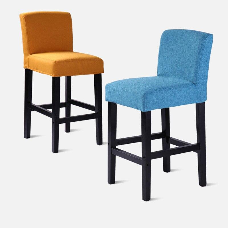 15%Solid wood bar chair bar chair fashion bar stool simple front desk cashier chair high chair home bar high stool|Bar Chairs| |  - title=