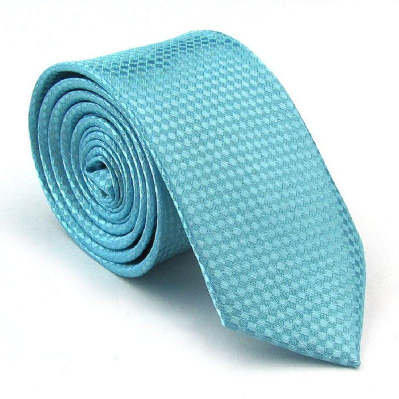 2019 Fashion Gravata Turquoise Blue Slim Tie Cravat Mariage Ties For Men 19 Colors