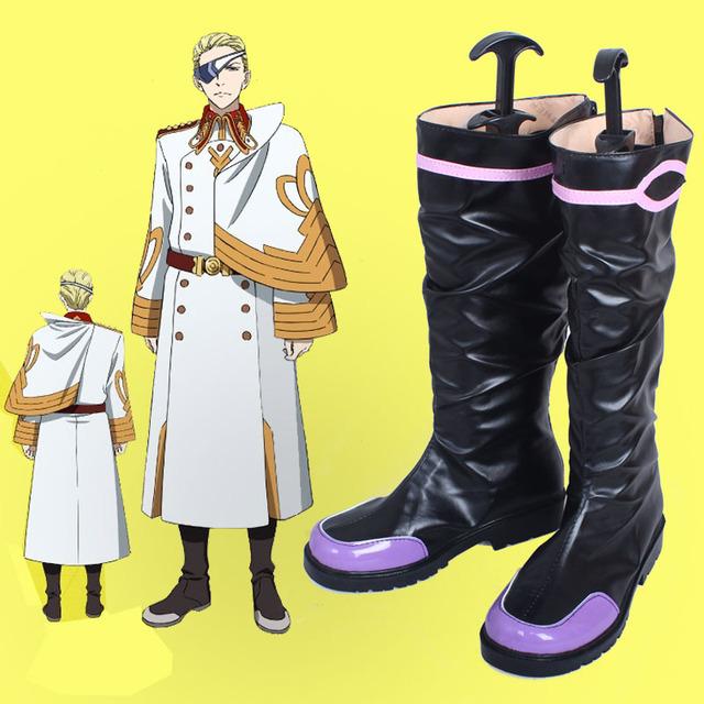 Kakumeiki Valvrave Caín Cosplay Zapatos Botas Hechas A Mano Personalizar Nuevo