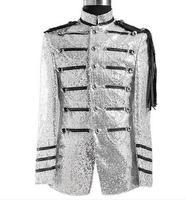 Новые мужские костюмы, костюмы, расшитые блестками, воротник, туника, платье, модное шоу, Презентер для певицы для сцены, костюм, костюм, pantalon