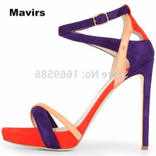 Mavirs Fashion summer women's ladies girls student princess wedding bride party sexy mixed colors high heels shoes sandals pumps