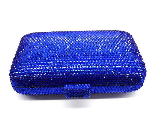Online Shop LaiSC wholesale Luxury navy blue evening handbag Red crystal  Clutch bag women evening bag Wedding purse bride pochette bag SC042  d9ced8ebf1d9