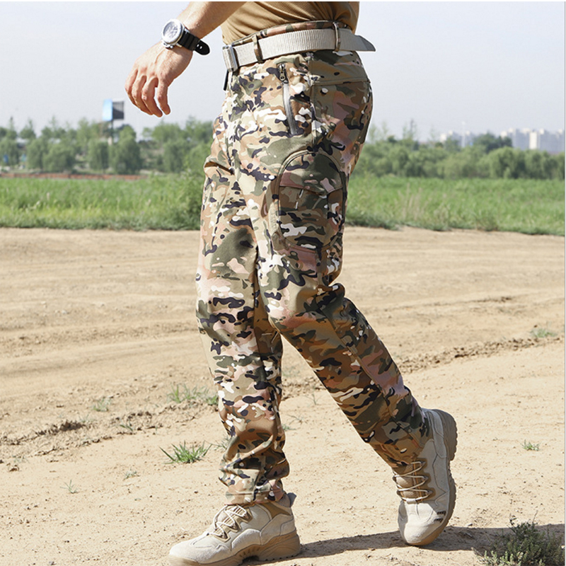 Oversized Softshell Men Outdoor Trouser Winter Camouflage Military Tactical Pant Army Trekking Hiking Camp Fish Climb Hunt Train