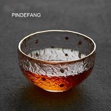 PINDEFANG Улучшенная Японская Чашка дзен 105 мл ручной выдувное Термостойкое стекло художественная стеклянная чашка кунг-фу чайная посуда дзен чайный набор чашка