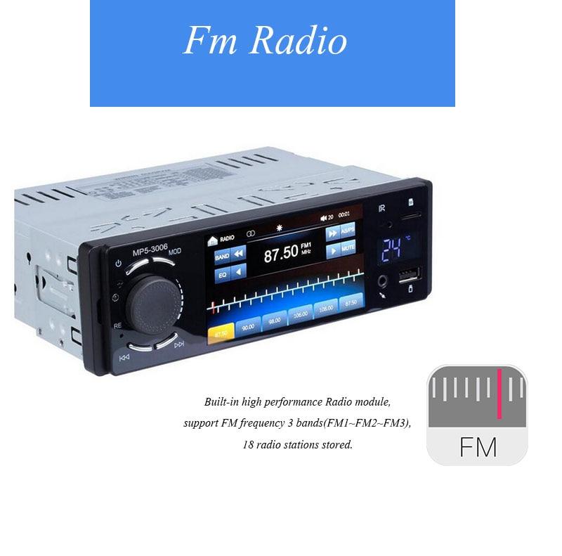 Rádio automotivo de 4.1 ''1 din, rádio