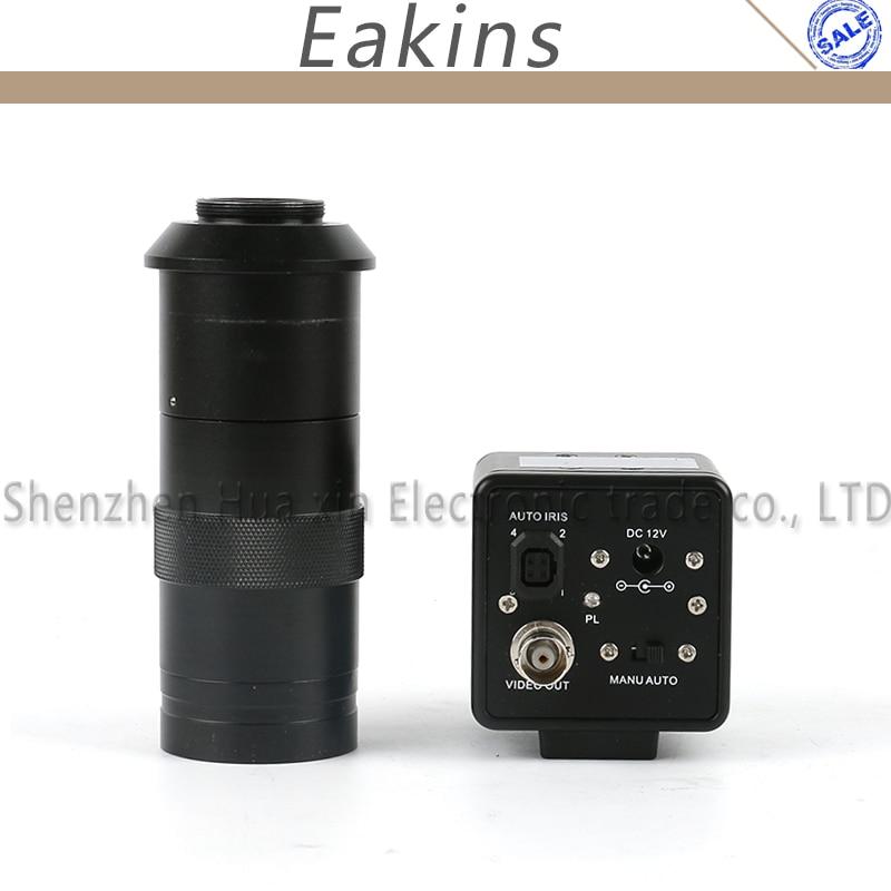 все цены на 800TVL 1/3 CCD BNC Color Video Output Digital Industry Video Microscope Camera Auto IRIS + 100X C-Mount Lens For SMD BGA PCB онлайн