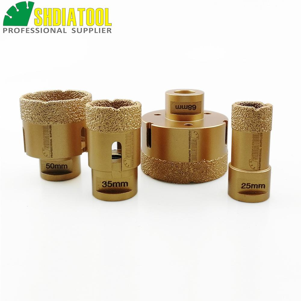 SHDIATOOL 4pcs M14 Vacuum Brazed Diamond Drilling Core Bits Hole Saw Stone Drill Bits Diamond Drill Bit Tile Crown Drilling Bits