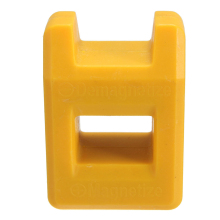New Style Screwdriver Magnetizer Degaussing Demagnetizer Magnetic Practical Pick Up Tool Color:Yellow