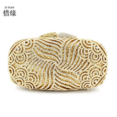 XIYUAN BRAND womens top quality fashion pearl clutch bag women diamond gold evening clutch purse brand ladies evening hand bag