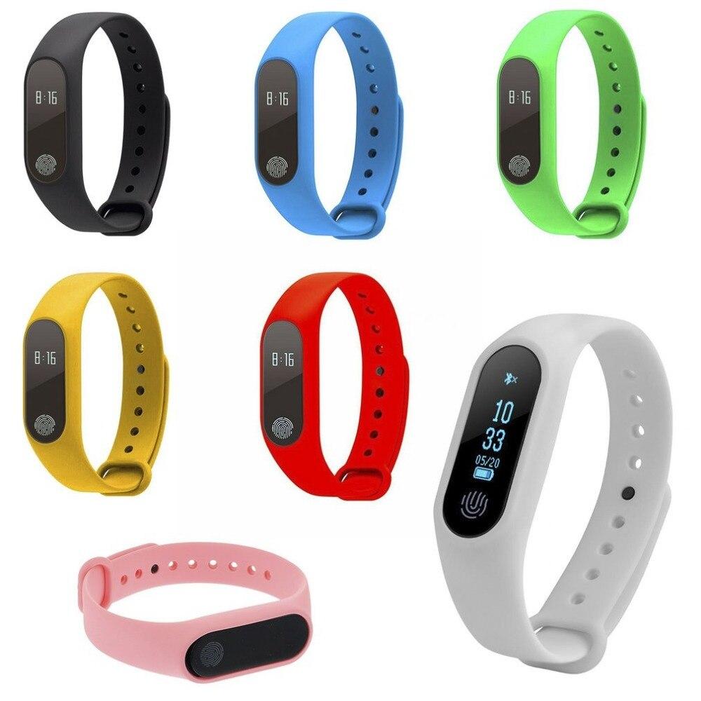 Waterproof IP67 M2 Smart Watch Fitness Heart Rate Monitor Call Reminder Pedometer Bluetooth 4.0 Bracelet Health Sleep Wristband