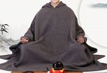 3colors unisex Autumn&winter Cotton meditation cloak Buddhism monks martial arts cape buddhist Lay suits red/gray/brown(China)
