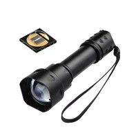 T20 IR 38มิลลิเมตรเลนส์Z Oomableโฟกัส850NMแสงอินฟราเรดNight VisionไฟฉายLEDไฟฉาย-ที่จะใช้กับคืนอุปกรณ