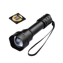 Buy online T20 IR 38mm Lens Zoomable Focus 850NM Infrared Light Night Vision LED Flashlight Torch -To be used with Night Device
