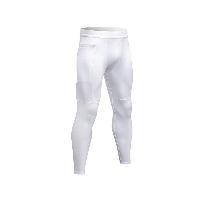 Mens Compression Tights Leggings Breathable Fitness Gym Long Pants Bodybuilding Workout Male Zip Pocket Leggins Skinny