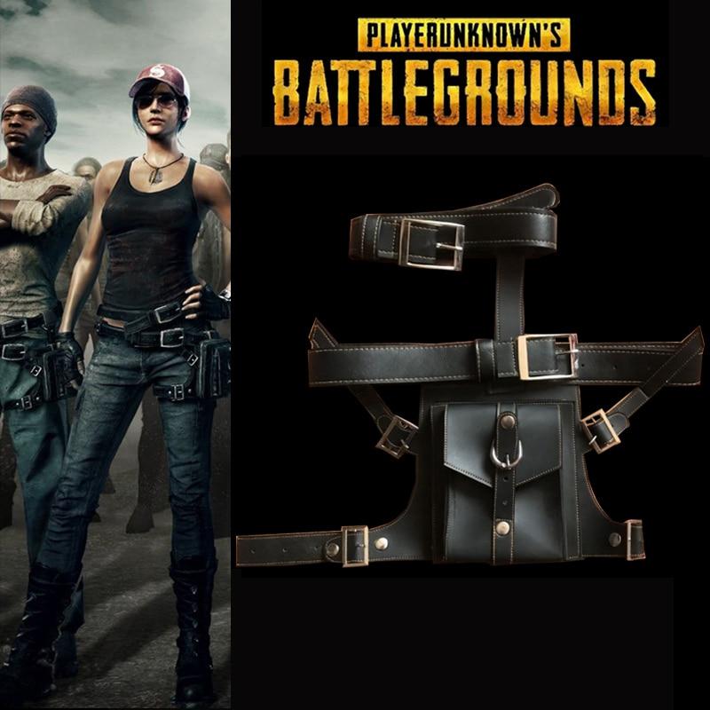 PUBG Game Playerunknowns Battlegrouds Waist Bags Cosplay Black Belt Props Men