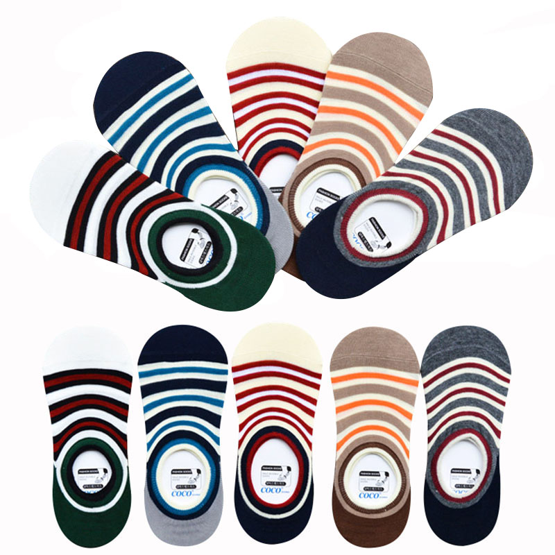 6pairs Mens Boat Socks Spring Summer Invisible Socks Silicone Cotton Men Sock Classic Male Non-slip Socks Meias Calcetines Sox