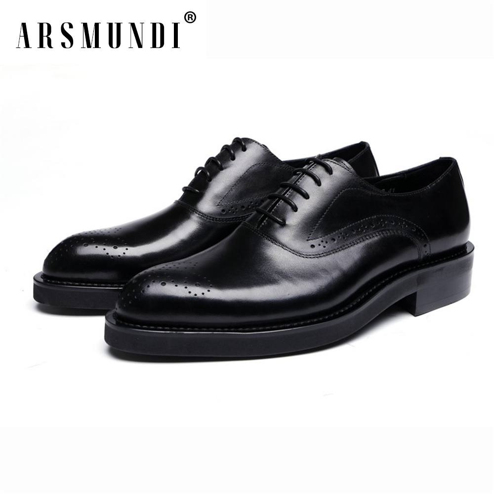 Mens Shoes Genuine Leather Cowhide Leather Pig Inner Round Toe Derby Dress Wedding Business Shoes 2018 New Lace-upMens Shoes Genuine Leather Cowhide Leather Pig Inner Round Toe Derby Dress Wedding Business Shoes 2018 New Lace-up