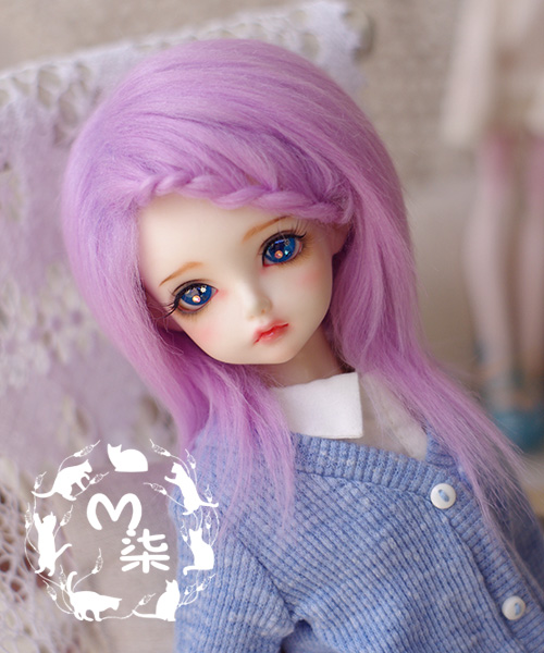 где купить New  1/3 22-23cm 1/4 18~19cm 1/6 16-17cm Sweet Purple long straight BJD Wig LUTS PULLIP SD BJD SD MSD YOSD Long Doll Wig по лучшей цене