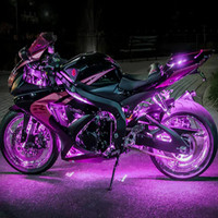 Motorcycle Chassis RGB Discoloration Variable Color Atmosphere Lights LED Car Interior Lamp Car Motorcycle Decor Accessories