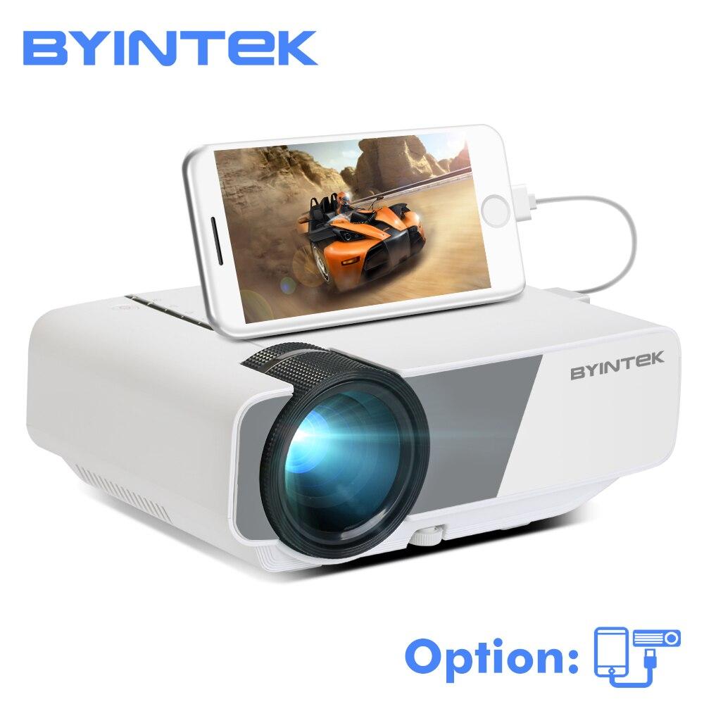 BYINTEK небо K1/K1plus светодиодный Портативный дома Театр HD мини-проектор (дополнительно проводной синхронизации Дисплей для Iphone Ipad Телефон Tablet)